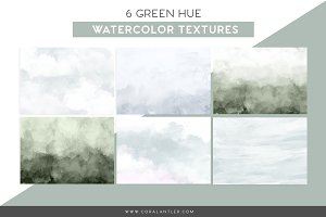 Green Watercolor Textures