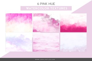 Pink Watercolor Textures