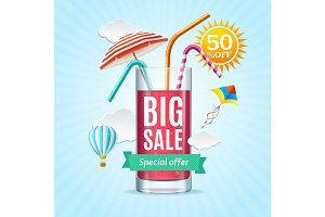 Big Sale Summer Concept