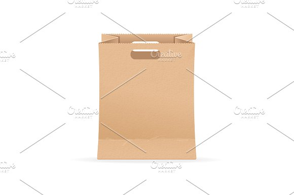 blank template paper bag sale graphic objects creative market