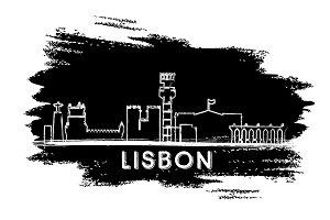 Lisbon Skyline Silhouette