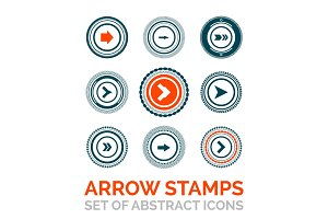 Set of vector arrow stamps