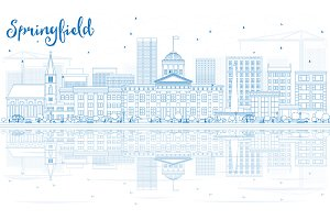 Outline Springfield Skyline