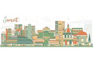 Abstract Surat Skyline