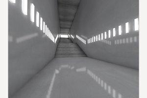 Stairs. 3D rendering