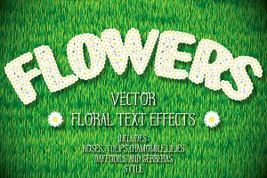 Flowers. Vector Graphic Styles