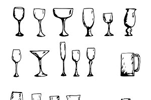 Vector set of glasses