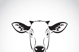 Vector of a cow head