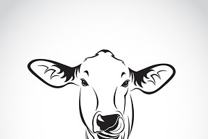 Vector of a cow head.