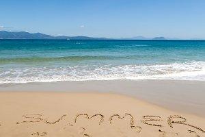 Summer in the beach