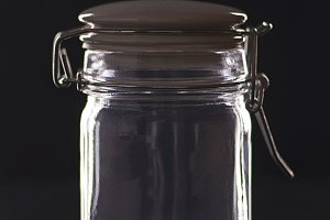 The empty glass jar
