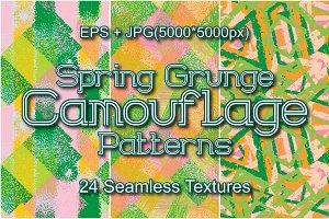 24 Spring Grunge Camo Patterns