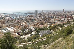 View of Alicante in Spain