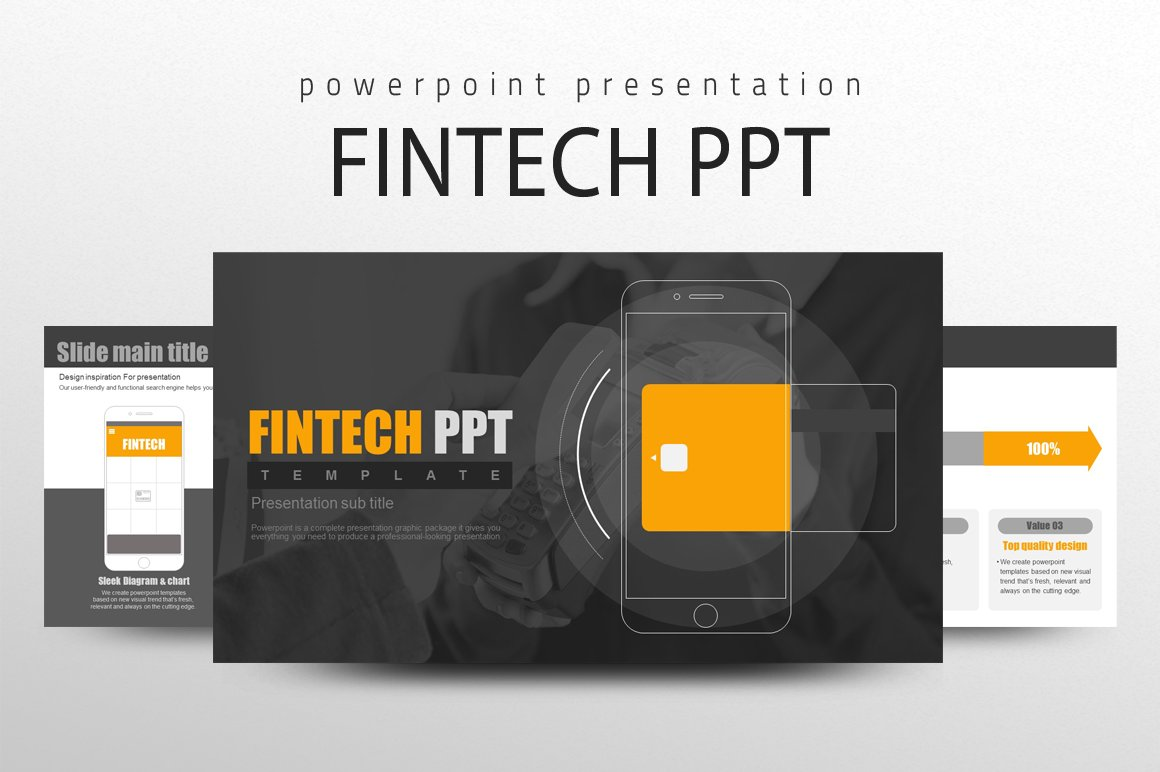 Fintech Ppt Powerpoint Templates Creative Market