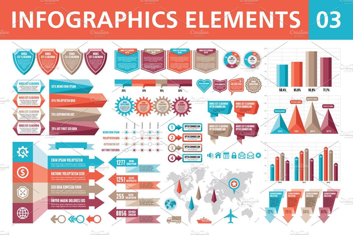 Infographics Elements 03 ~ Presentation Templates ...