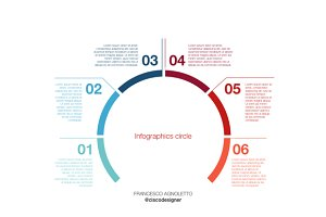 Infographic circle - sketch template