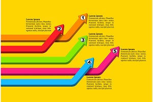 Intersecting colorful numbered graph arrows