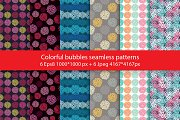 Colorful bubbles seamless pattern