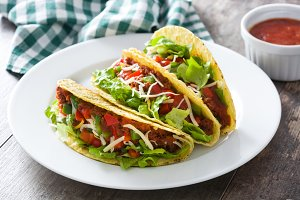 Traditional Mexican tacos