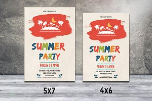 Summer Party Flyer Template-V533