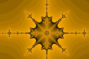 Orange fractal background