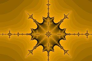 Orange fractal background