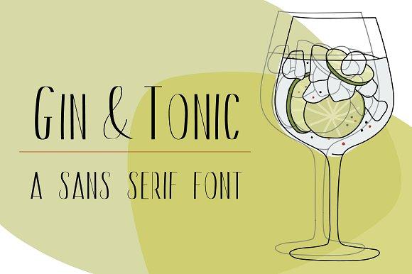 Gin And Tonic Sans Serif Font