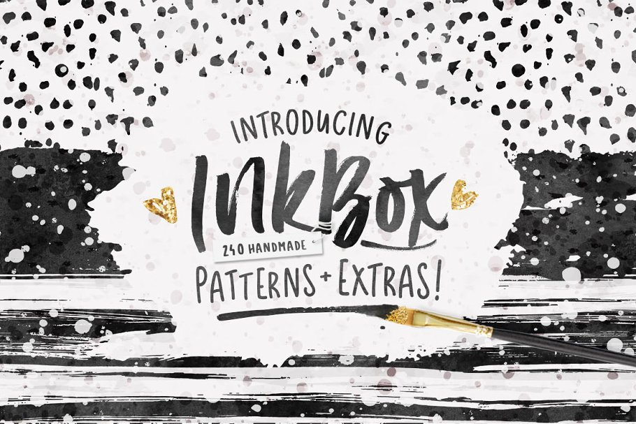 InkBox - 240 Inky Patterns + Extras! in Patterns - product preview 8