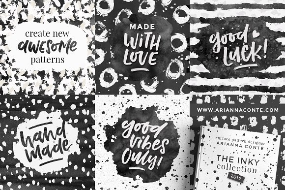 InkBox - 240 Inky Patterns + Extras! in Patterns - product preview 1
