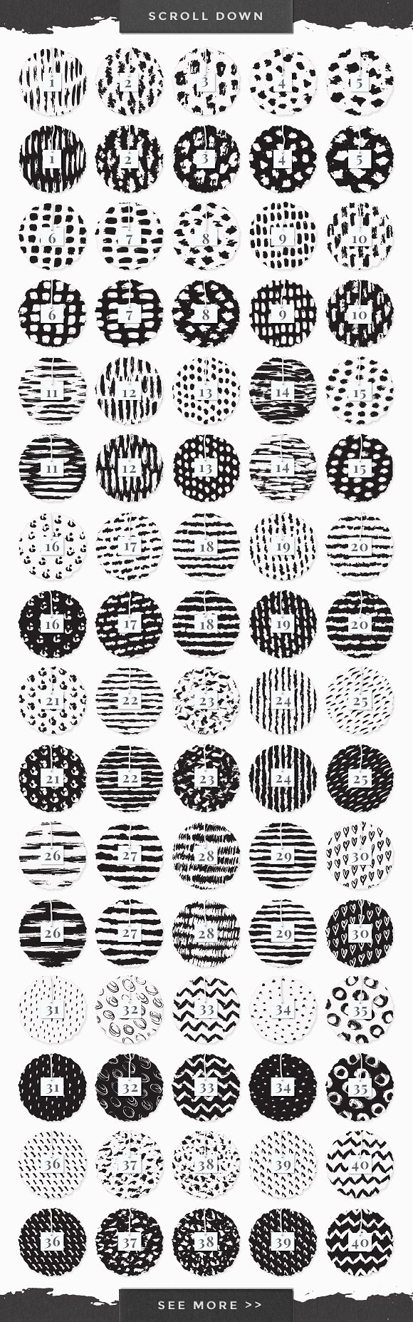 InkBox - 240 Inky Patterns + Extras! in Patterns - product preview 4