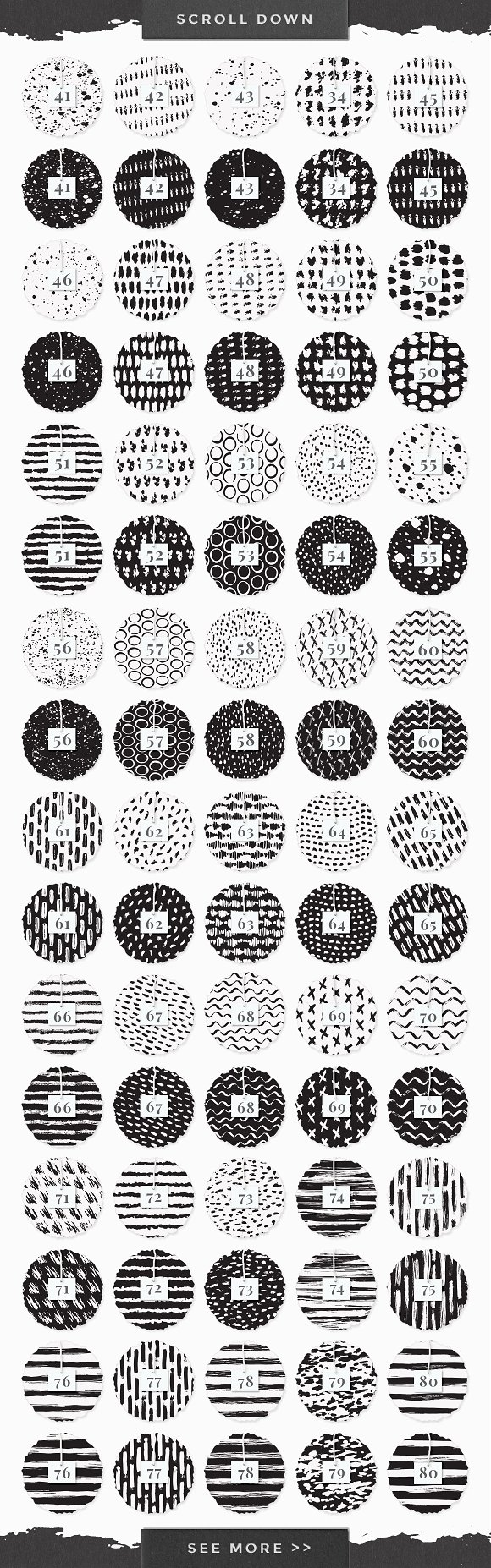 InkBox - 240 Inky Patterns + Extras! in Patterns - product preview 5