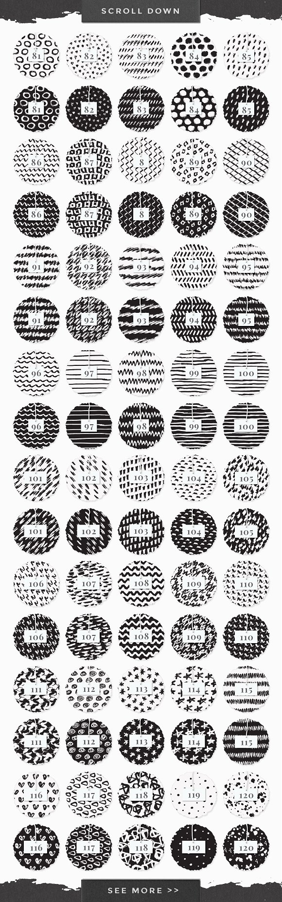 InkBox - 240 Inky Patterns + Extras! in Patterns - product preview 6
