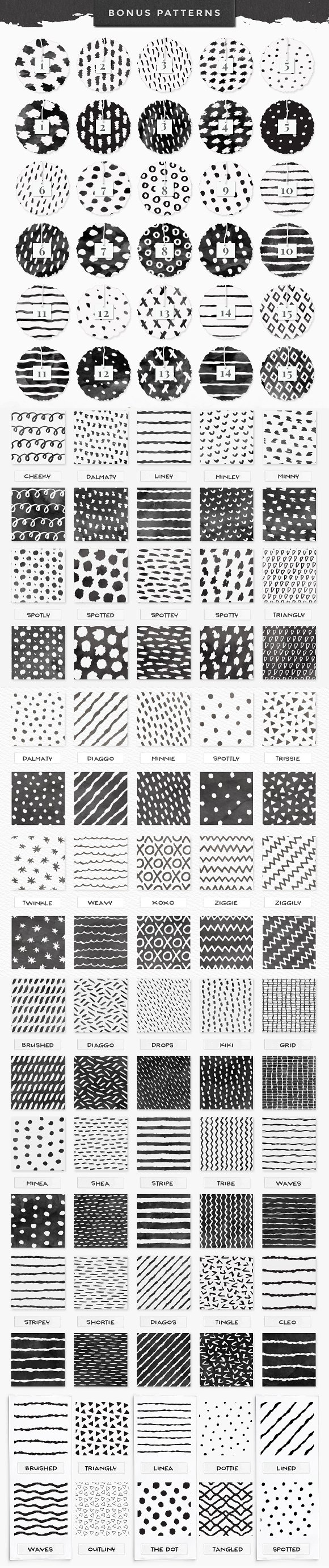 InkBox - 240 Inky Patterns + Extras! in Patterns - product preview 7