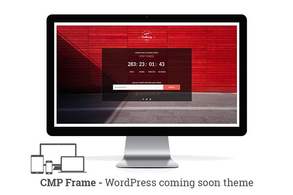 WordPress Landing Page Themes: NiteoThemes - CMP Frame - Coming Soon WP Theme