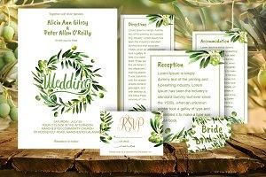 Wedding invitation olive DiY