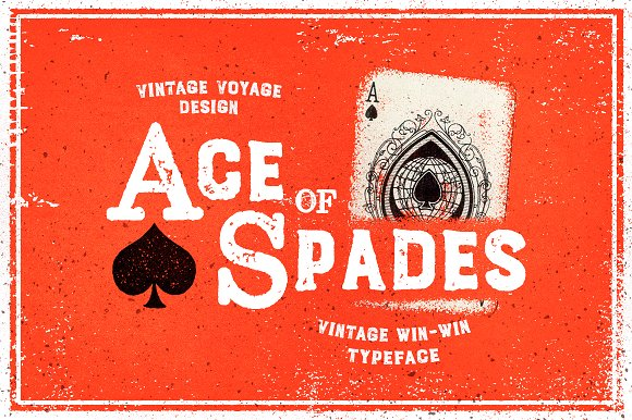 Ace Of Spades Win-Win Typeface