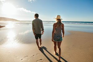 Couple on beach holiday