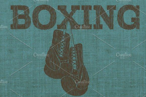 Vector boxing emblem