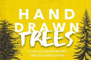 37 Vintage Tree Illustrations