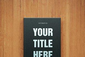 Black blank book mockup