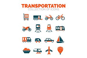 Transportation premium icon set
