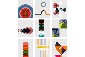 Set of blank minimal geometrical templates