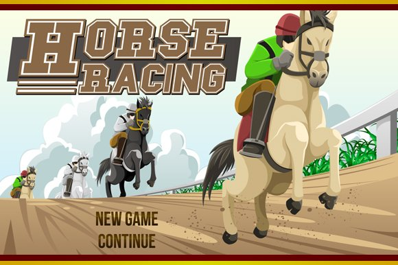Horse Racing Game Assets Illustrations Creative Market