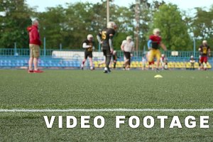 American football. Training, running, playing