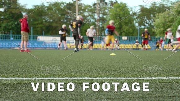 American Football Training Running Playing