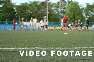 American football. Smooth and slow slider shot