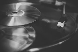 Vinyl records and CD