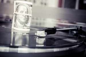 Vinyl records and money