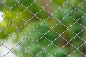 Wire netting fence