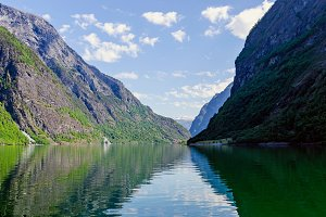 Into the fjord in Norway